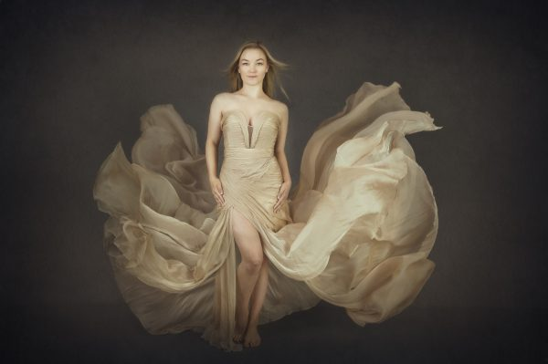 Alana Lee Photography: Portrait of beautiful girl wearing a floating dress that looks like a flower