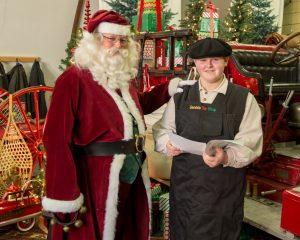 Photos with Santa following the Port Hope Santa Claus parade 2018