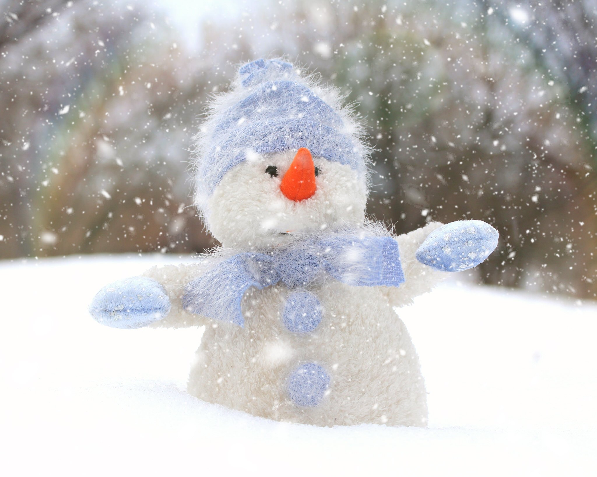 Alana Lee Photography: snowman after adding a snow overlay in photoshop