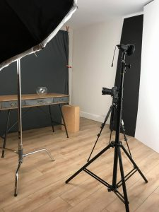 Stella Pro 5000 and Stella Pro 2000 continuous LED light in photography studio setup