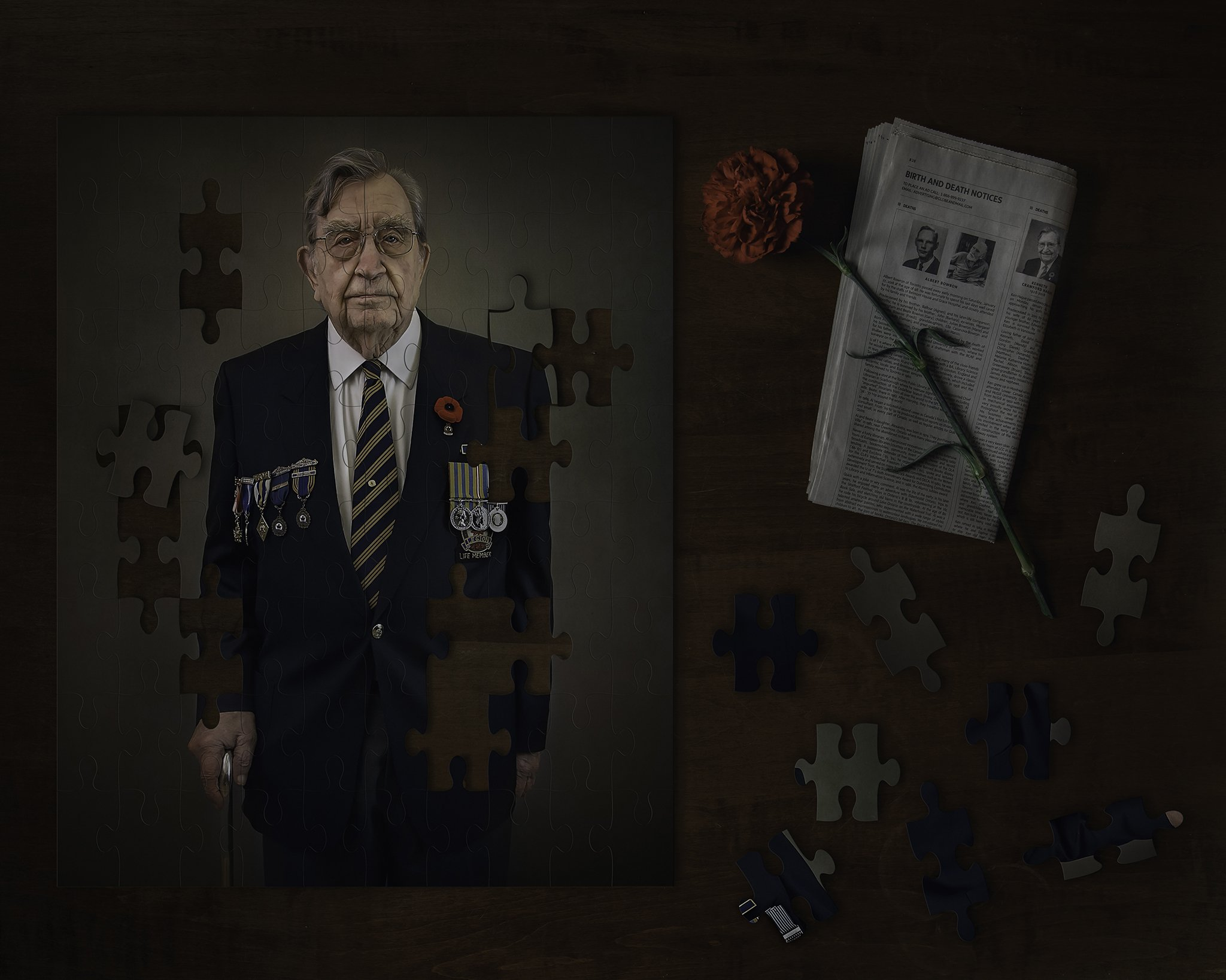 Photography of Korean War Veteran puzzle