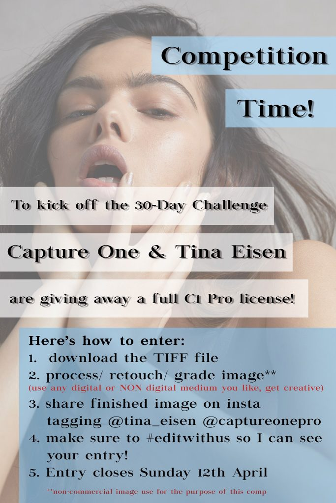 The capture one contest hosted by Tina Eisen as posted on facebook social media