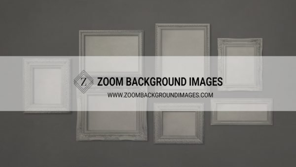 zoom virtual backgrounds for photographers frame on grey wall background