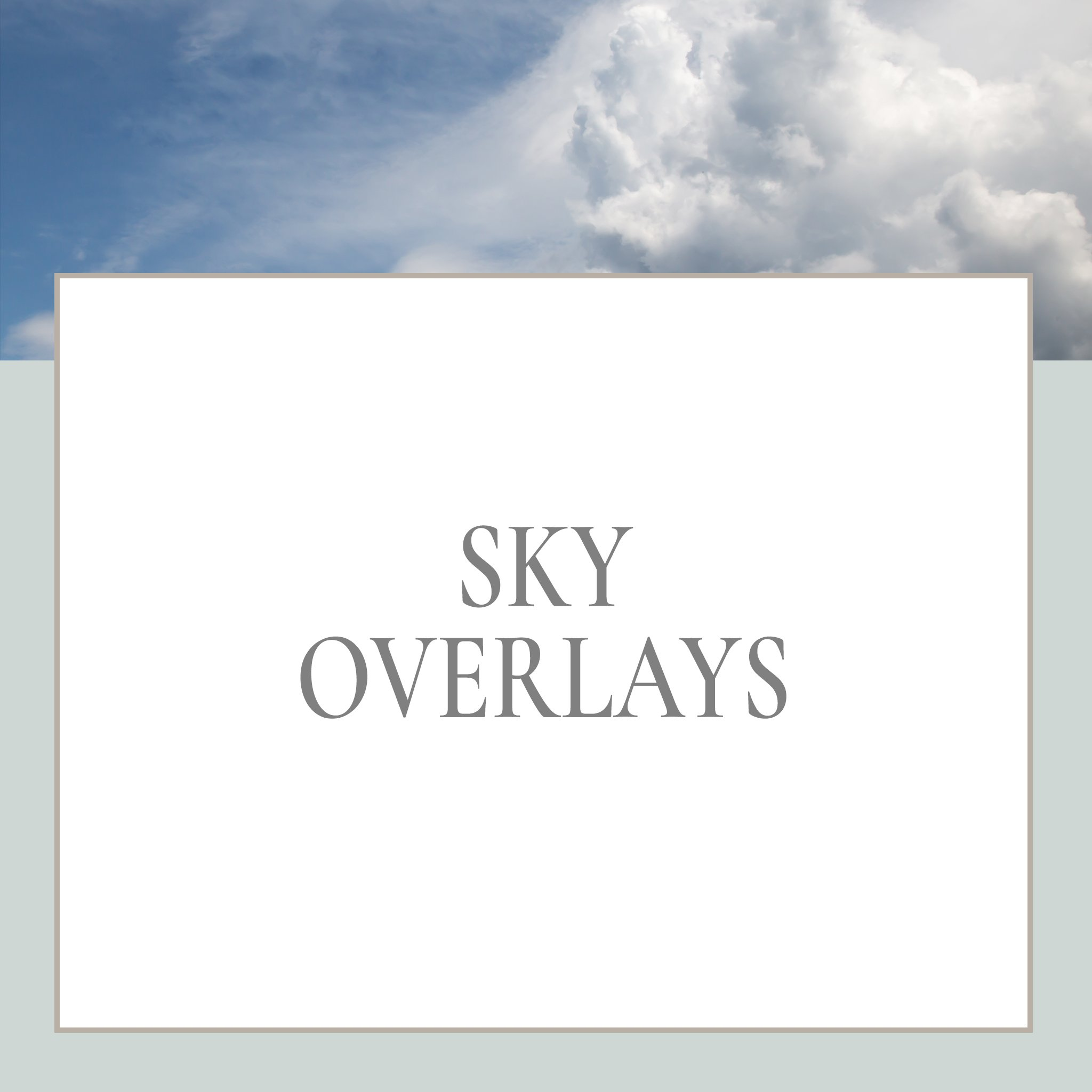 sky overlays for photoshop