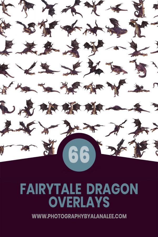 realistic fairytale dragon overlays for photoshop