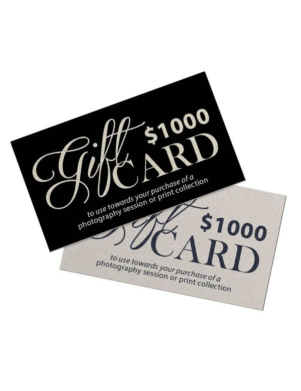 $1000 gift card for alana lee photography