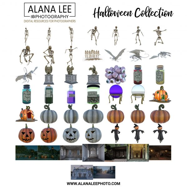 halloween digital overlays and backgrounds for photoshop