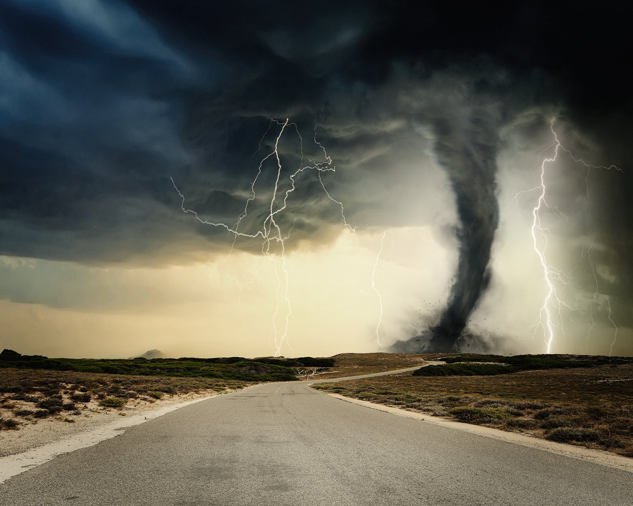 image of tornado with lightning and dust storm overlays added in photoshop by alana lee photography