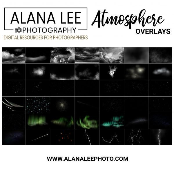 a collection of overlays for photoshop in the atmosphere collection by alana leee photography