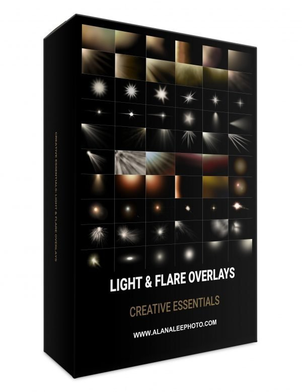 light, flare and sun ray overlays for photoshop editing