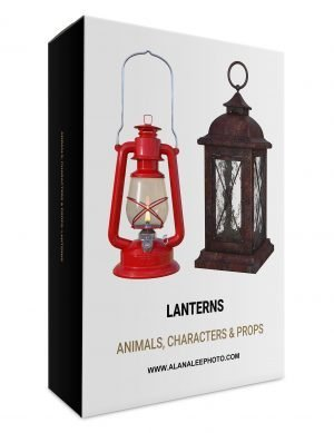 Digital lantern and oil lamp prop overlays for photoshop by alana lee photography