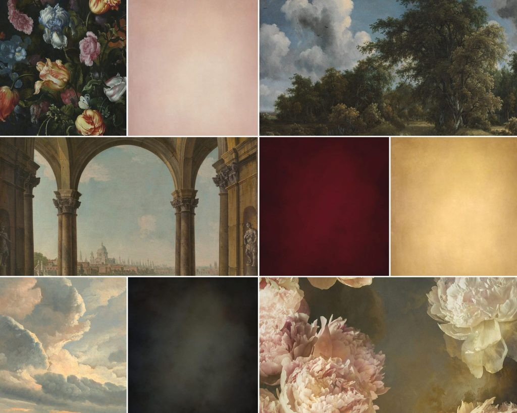 A collection of digital backgrounds and backdrops for photoshop