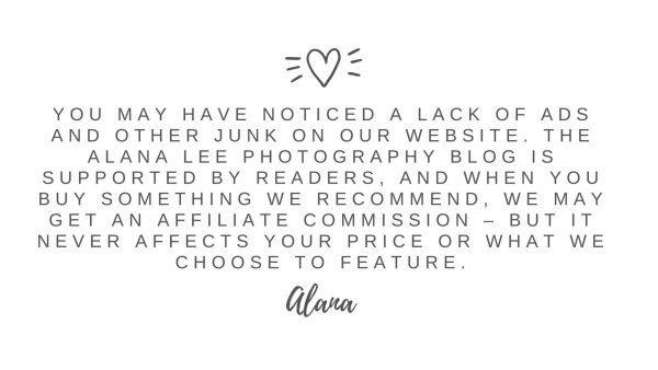 affiliate disclaimer for alana lee photography