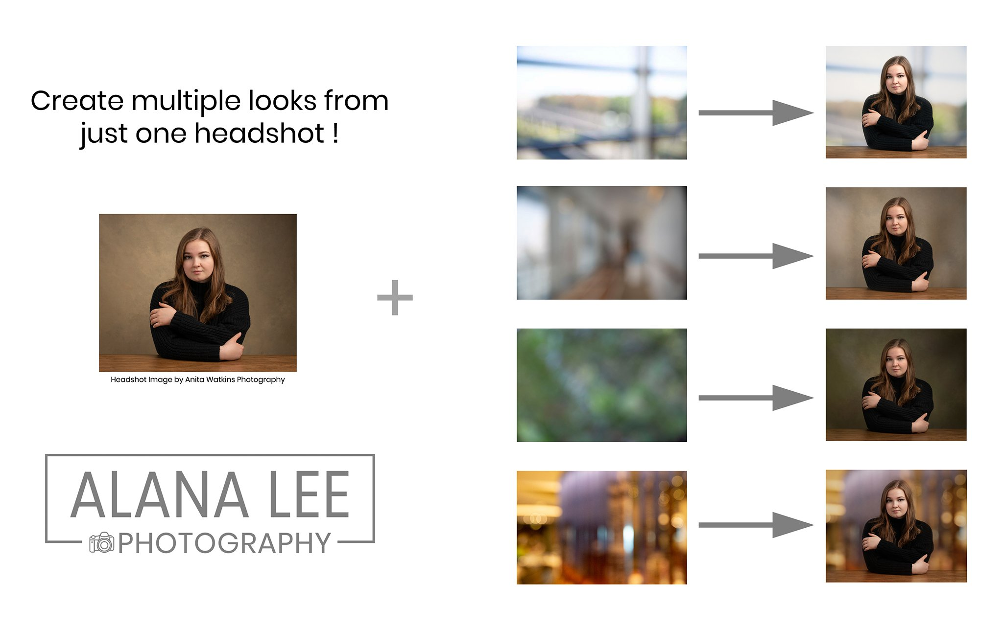 example of how to use digital backgrounds for headshots