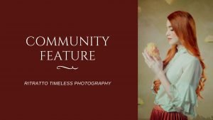 community feature blog banner for ritratto timeless photography