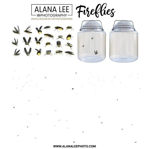 A collection of digital firefly overlays for photoshop by alana lee photography